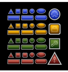 web buttons on black vector image vector image