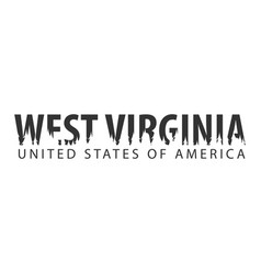 West virginia usa united states of america text vector