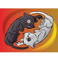 Yin Yang Kitty vector image