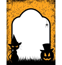 Halloween border background vector