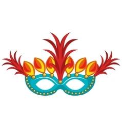 Brazilian carnival mask rio vector
