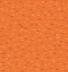 Orange Brick wall pattern background vector image