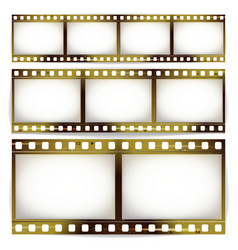 film strip set cinema of photo frame strip vector image