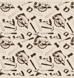 Carpentry tools seamless pattern design vector