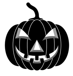Black pumpkins for halloween vector