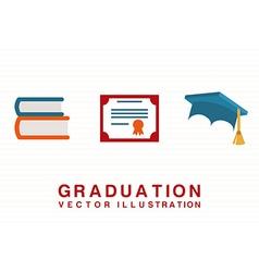 graduation design vector image