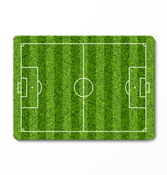 Green grass soccer field vector