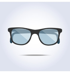 Glasses icon on gray background vector