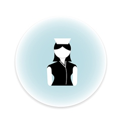 Nurse women icon vector
