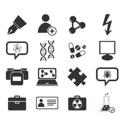 Science icon set 6 simple vector