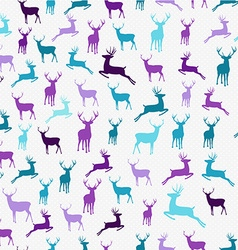 Merry christmas hipster reindeer seamless pattern vector