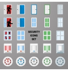 Material icons security set 2 vector