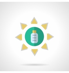 Solar energy flat color icon vector