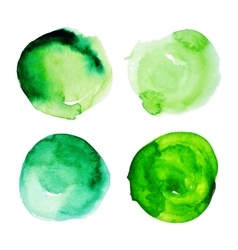 Set of green watercolour stains vector