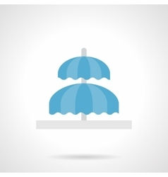 Double fountain flat color design icon vector
