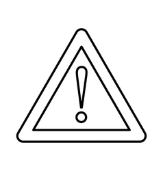 Warning attention sign with exclamation mark icon vector
