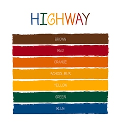 Highway color tone vector