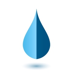 Abstract drop icon vector image vector image
