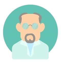Avatar man doctor icon flat style vector