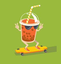 bubble tea character vector image