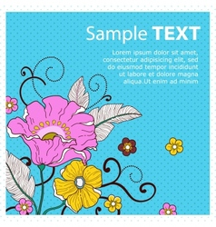Card with flowers peas vector image