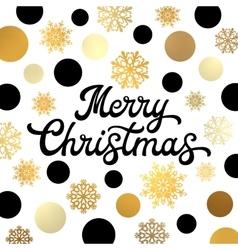 Christmas lettering inscription on xmas background vector
