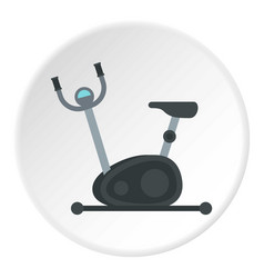 Exercise bike icon circle vector