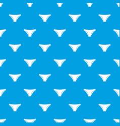 Female cotton panties pattern seamless blue vector