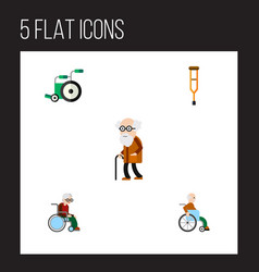 Flat icon handicapped set of equipment vector