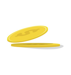 Gold coin isolated icon vector