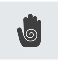 Hamsa hand icon vector