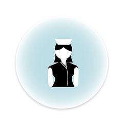 Nurse women icon vector
