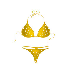orange bikini suit with white dots vector image vector image