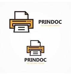 Printer logo or icon vector