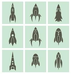 raketa varijante2 vector image vector image