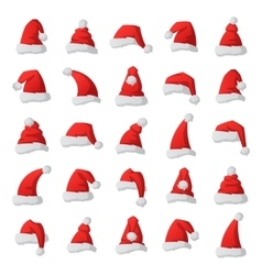 Santa christmas hat vector image