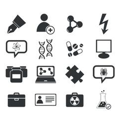 Science icon set 6 simple vector