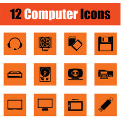 Set of computer icons vector