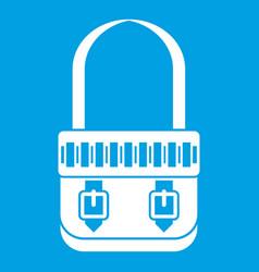 shoulder bag icon white vector image