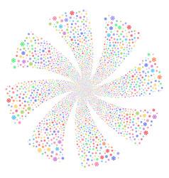 Snowflake fireworks swirl flower vector