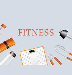 sports and physical activity equipment vector image vector image
