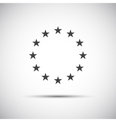 Stars of the European Union simple icons vector image vector image