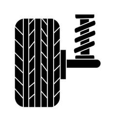 suspension car auto icon vector image
