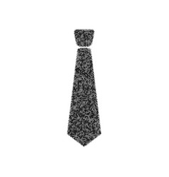 tie sign black icon from vector image