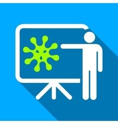 Virus report presentation flat long shadow square vector