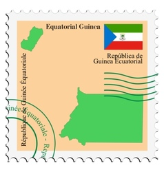 Mail to-from equatorial guinea vector