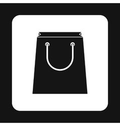 Paper bag icon in simple style vector image