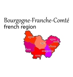 Bourgogne-franche-comte french region map vector
