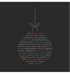 Christmas ball toy made of programming code vector image