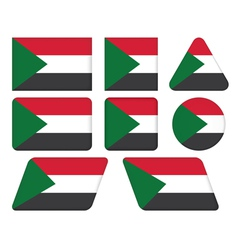 Buttons with flag of sudan vector
